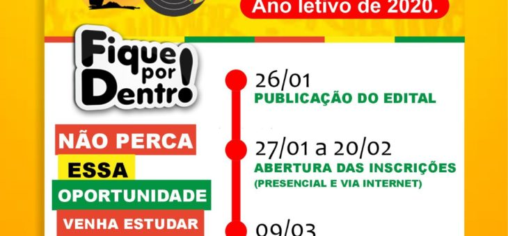 Abertas as inscrições do curso preparatório para o Enem/Vestibular 2020 do Instituto Quilombo Ilha